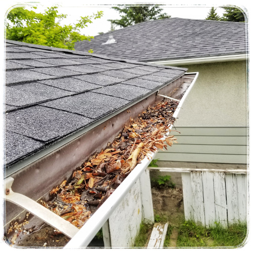 Neglected eavestrough will cause big problems